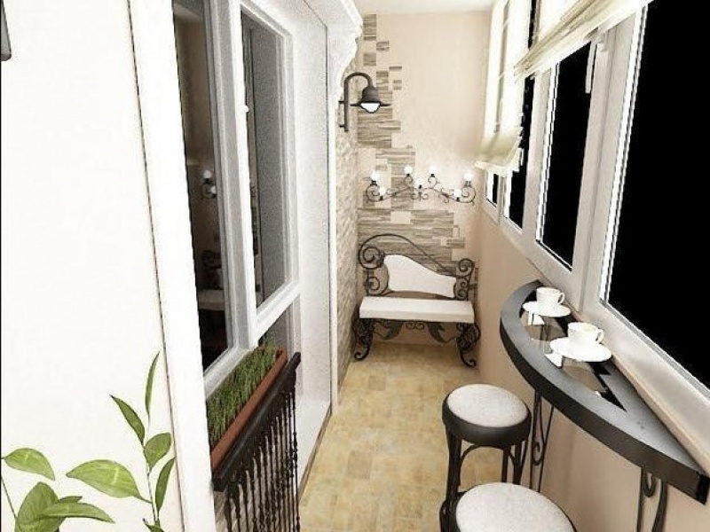 Интерьеры балконов и лоджий - день вдохновения.